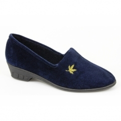 ANDOVER Ladies Full Slippers Navy