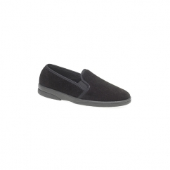 ANTHONY IV Mens Full Slippers Black