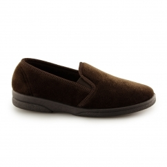 ANTHONY IV Mens Full Slippers Brown