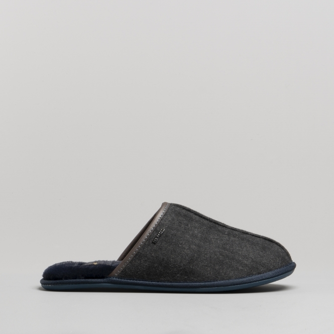 db9d545ee Ted Baker AYNTIN Mens Textile Mule Slippers Dark Grey