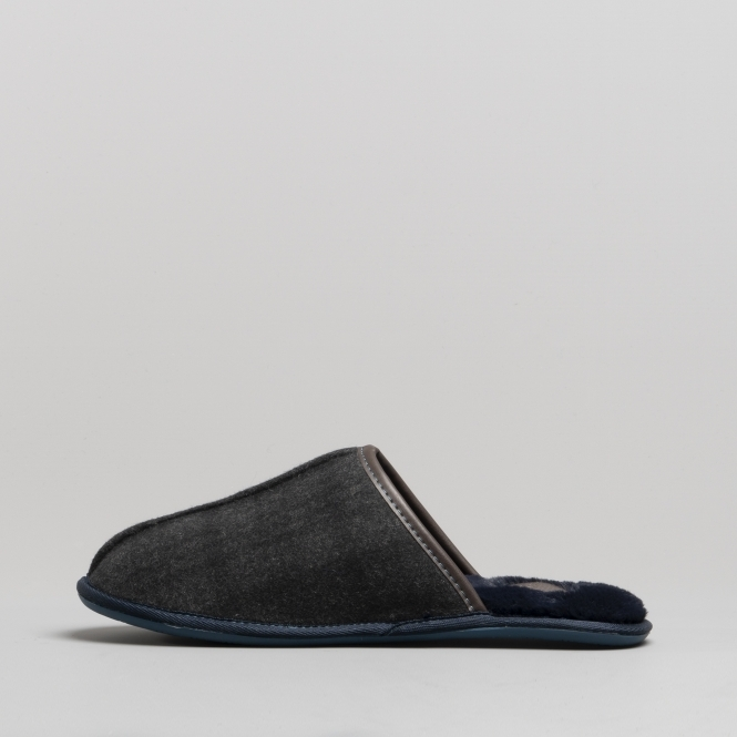 4dc5a673e Ted Baker AYNTIN Mens Textile Mule Slippers Dark Grey