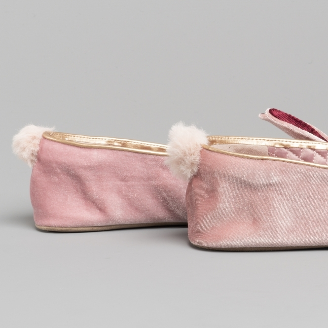 d191ba9da3f38a Ted Baker BHUNNI Ladies Velvet Ballerina Slippers Rose