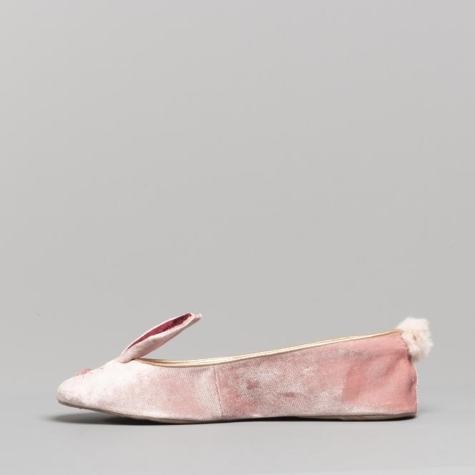 edceb1cad79b Ted Baker BHUNNI Ladies Velvet Ballerina Slippers Rose
