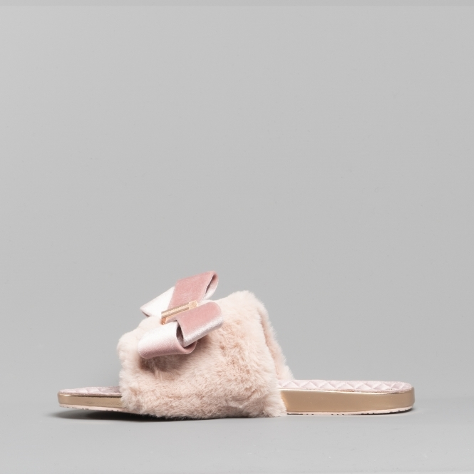 c1fad5c3dbb6 Ted Baker BLINGS Ladies Faux Fur Mule Slippers Light Pink