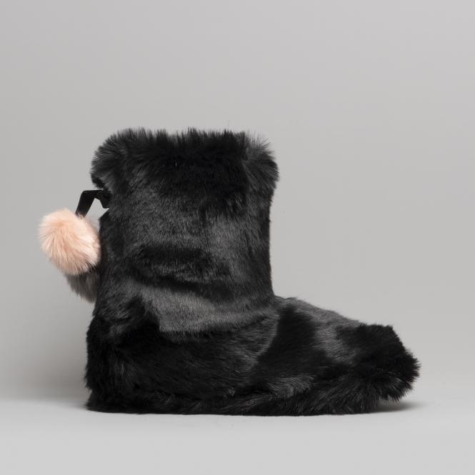 56e5eab72f37 Ted Baker HAMOND Luxury Faux Fur Bootie Slippers Black