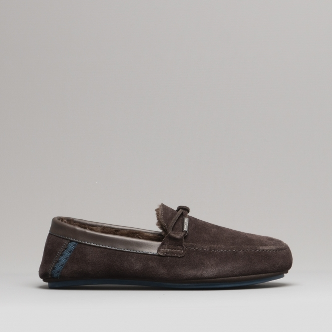 caf58ba6e115 Ted Baker VALCENT Mens Suede Moccasin Slippers Brown