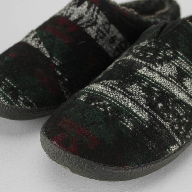 af583833a49 TOMS BERKELEY Mens Warm Lined Mule Slippers Forest