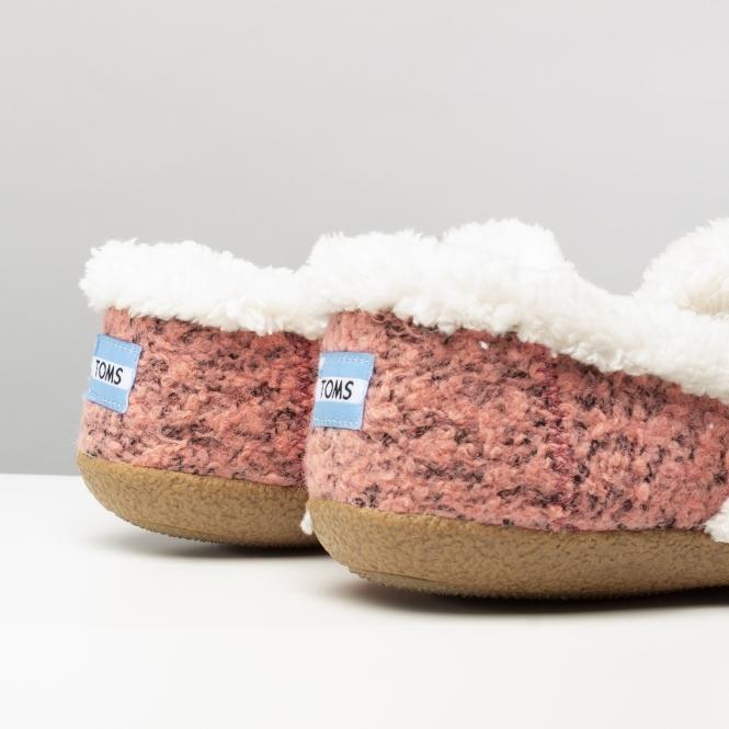 15481360e5f TOMS HOUSE SLIPPER Ladies Full Slippers Rose Pink