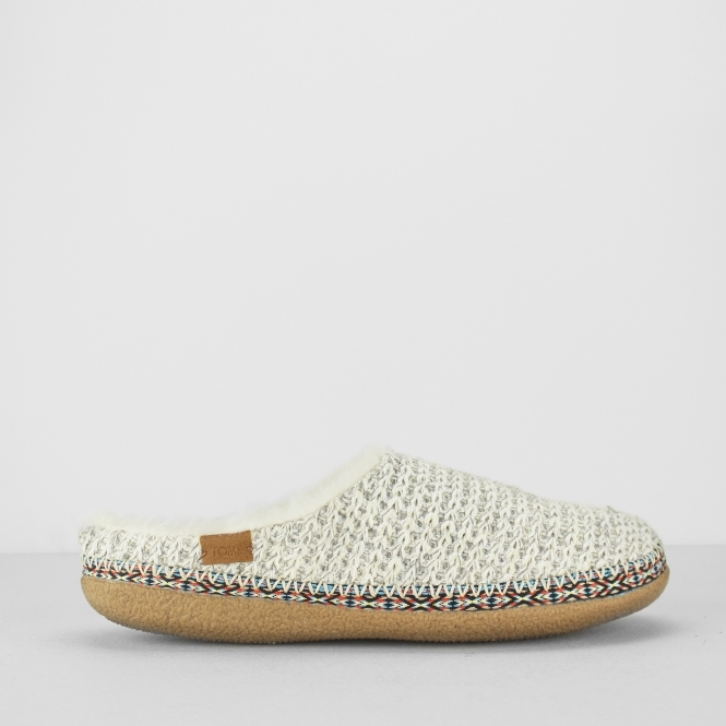 624c8924510 TOMS IVY Ladies Vegan Winter Mule Slippers Birch