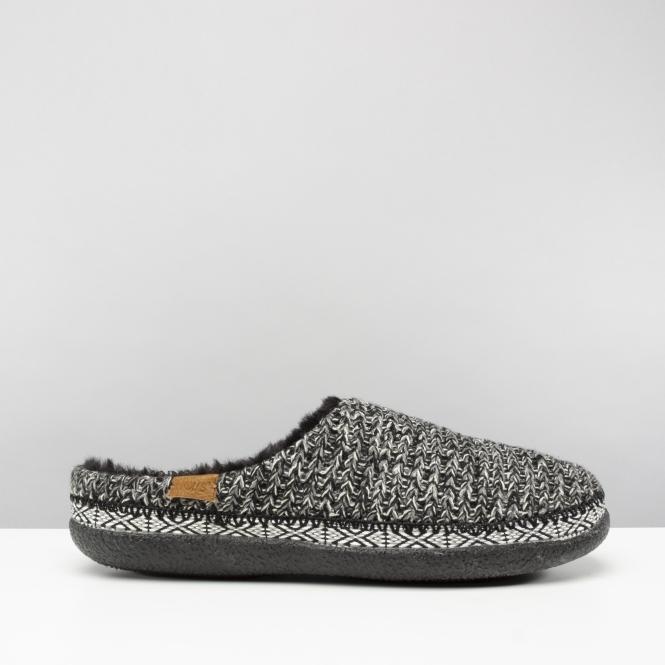 TOMS IVY Ladies Slip On Mule Slippers Black White  1296f977fcf5