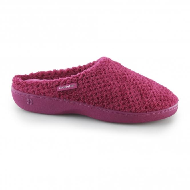 3b753b85787ce POPCORN TERRY Ladies Mule Slippers Pink