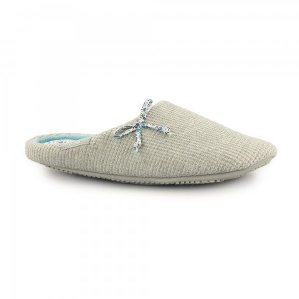 Totes Isotoner Waffle Ladies Mule Slippers Grey House Of