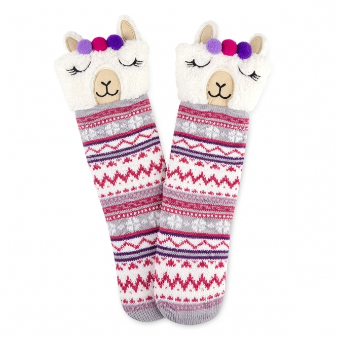 Totes Women Novelty Chunky Lined Socks Pack of 1