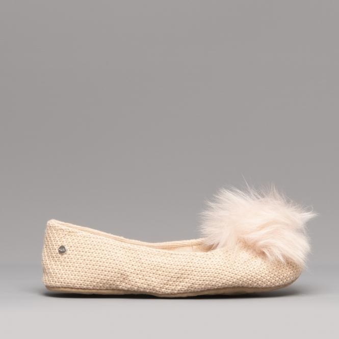 4e56ea0d08a UGG ANDI Ladies Ballerina Slippers Amberlight