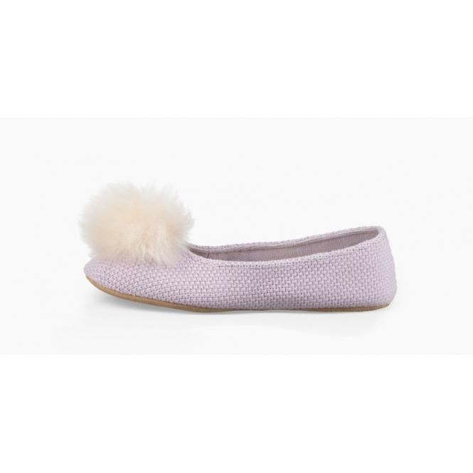 2691d607835 UGG ANDI Ladies Ballerina Slippers Lavender Fog