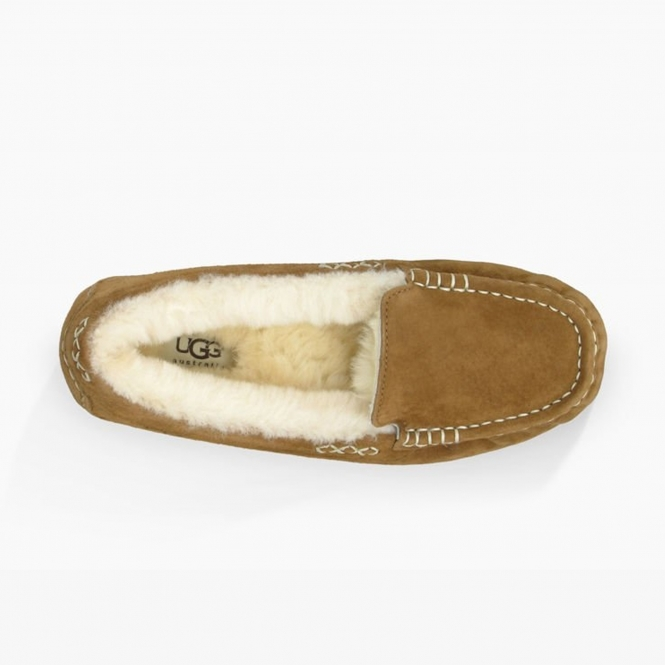 d9066eaefc2 UGG ANSLEY Ladies Moccasin Slippers Chestnut
