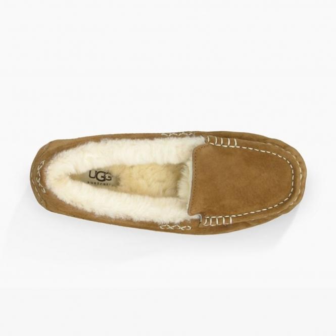 e95b7286f24 UGG ANSLEY Ladies Moccasin Slippers Chestnut