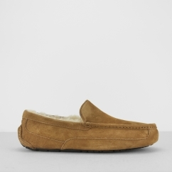 ASCOT Mens Moccasin Slippers Chestnut
