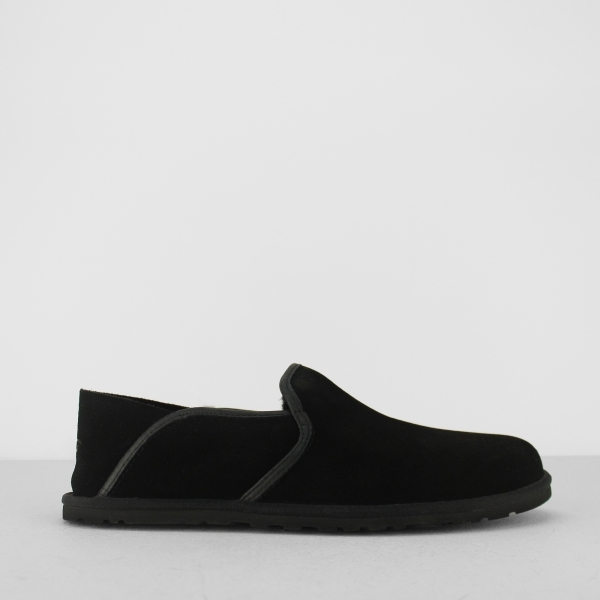 Ugg Cooke Mens Comfort Suede Full Slippers Black House