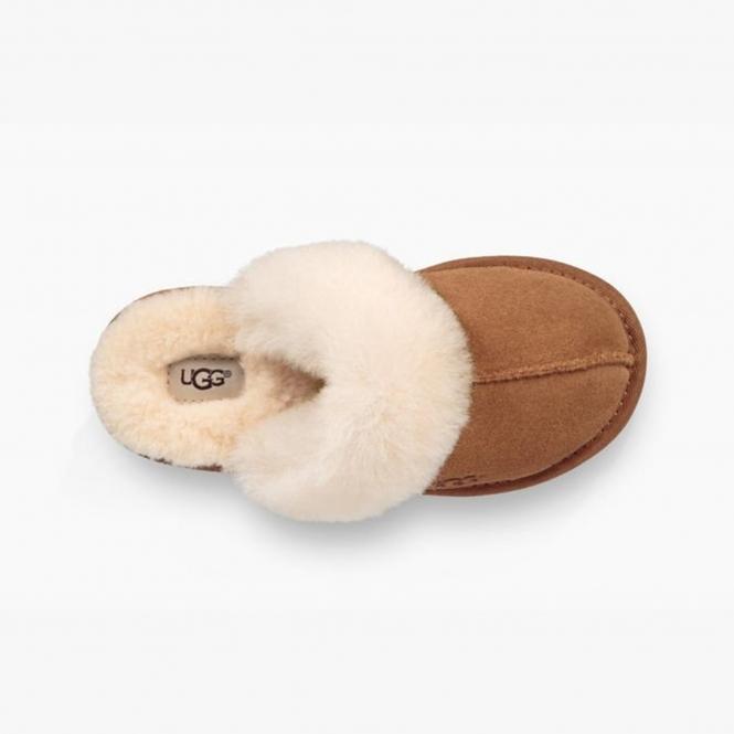 376a0d2236531 UGG COZY II Kids Mule Slippers Chestnut