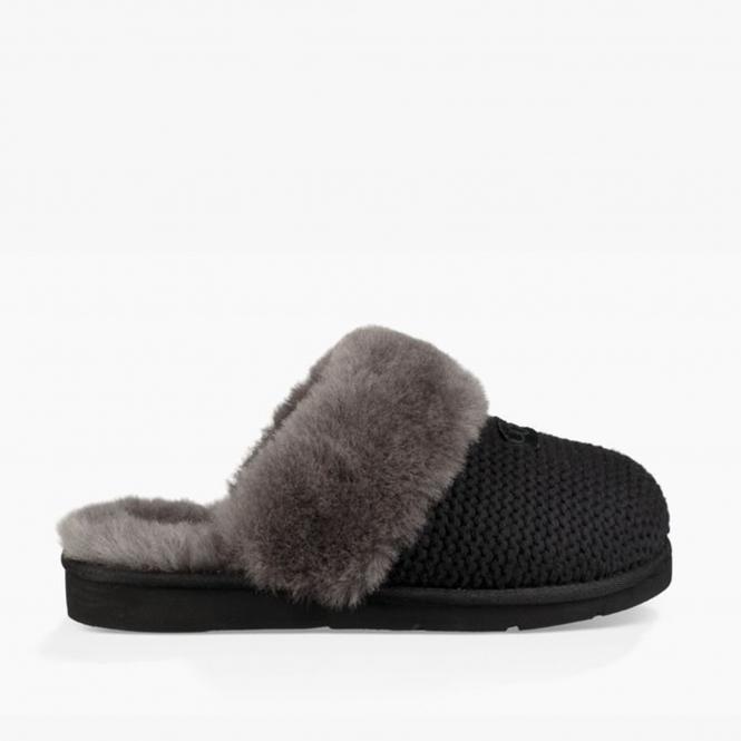 dd3260a0c6a UGG COZY KNIT Ladies Mule Slippers Black