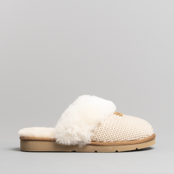 Ugg Cozy Knit Ladies Mule Slippers Cream Houseofslippers