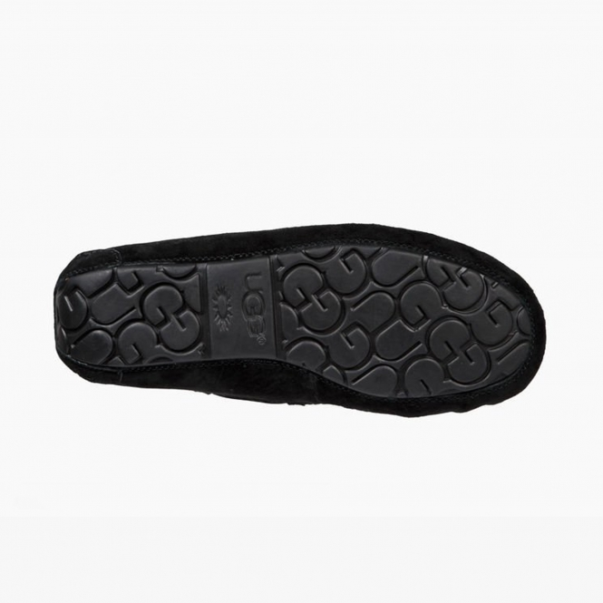 a13c8dcb7ba DAKOTA POM POM Ladies Moccasin Slippers Black