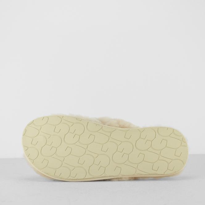 e86153ed0f0 UGG FLUFF FLIP FLOP II Ladies Toe Post Slippers Natural