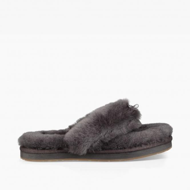 9652f67fd91 UGG FLUFF FLIP FLOP III Ladies Toe Post Slippers Grey