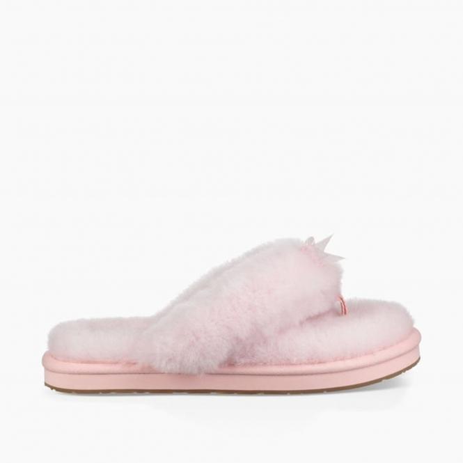 381c7b54c13 UGG FLUFF FLIP FLOP III Ladies Toe Post Slippers Seashell Pink