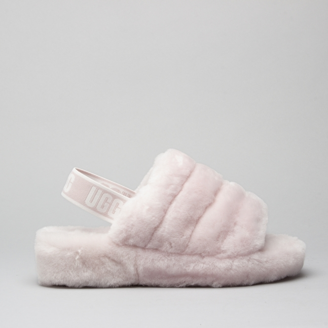 30793fcab48 UGG FLUFF YEAH SLIDE Ladies Slide Slippers Seashell Pink