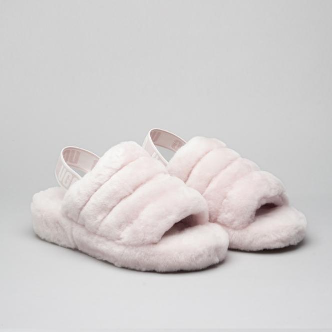 0aed0f484be UGG FLUFF YEAH SLIDE Ladies Slide Slippers Seashell Pink