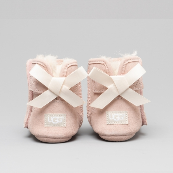 66d7e97d34b UGG JESSE BOW II Kids Suede Booties Baby Pink