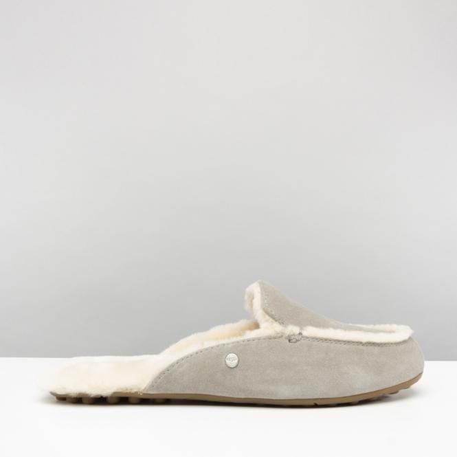 4ddab92674f UGG LANE Ladies Slip On Loafer Slippers Seal Grey