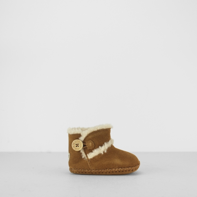 LEMMY II Infants Boot Slippers Chestnut