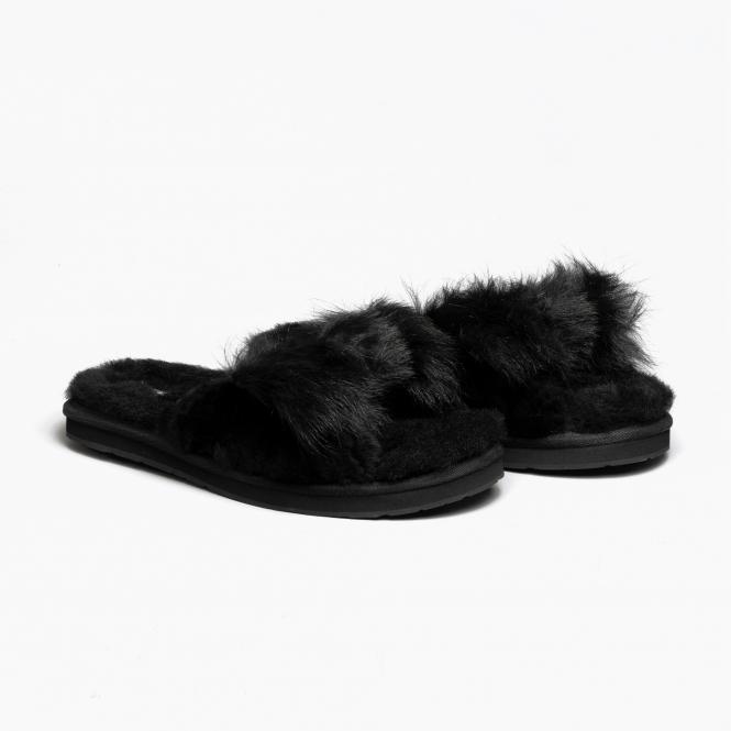 4f2b9357a95 UGG MIRABELLE Ladies Mule Slippers Black