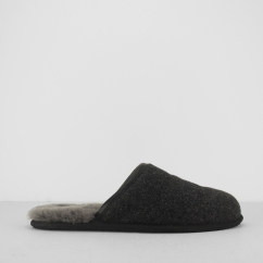 SCUFF NOVELTY Mens Mule Slippers Black