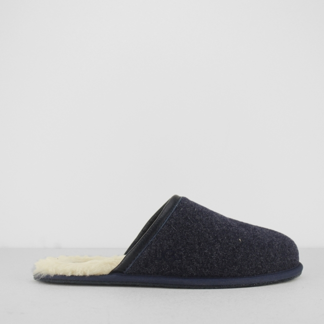 214482f0828 UGG SCUFF NOVELTY Mens Slip On Mule Slippers Navy