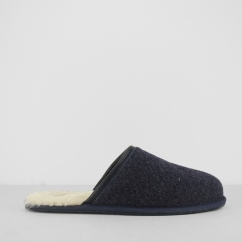 SCUFF NOVELTY Mens Mule Slippers Navy