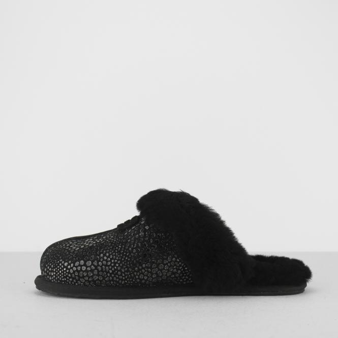 caf3fe5bed8 UGG SCUFFETTE II GLITZY Ladies Mule Slippers Black