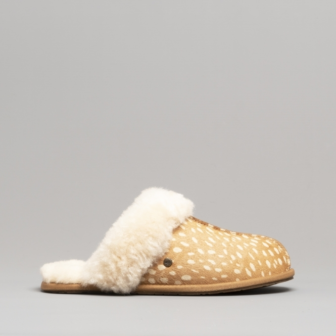 5be0566ad063 UGG SCUFFETTE II IDYLLWILD Ladies Mule Slippers Chestnut ...
