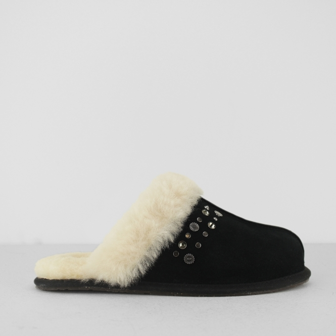 4a7a8cddbf2027 UGG SCUFFETTE II STUDDED BLING Ladies Slippers Black