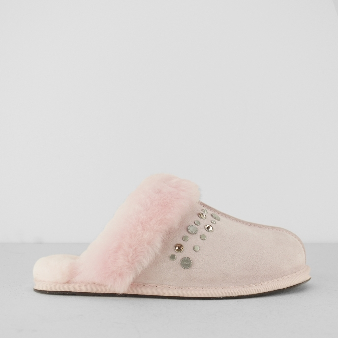 4727812b816 SCUFFETTE II STUDDED BLING Ladies Mule Slippers Seashell Pink