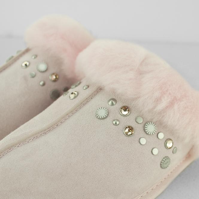 909cbfd1226 UGG SCUFFETTE II STUDDED BLING Ladies Mule Slippers Seashell Pink