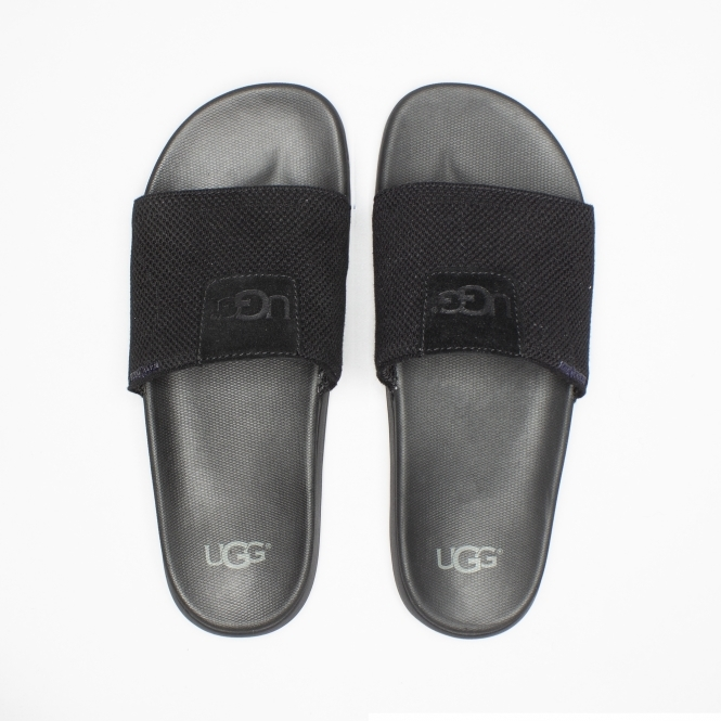 510be80dddb UGG XAVIER HYPERWEAVE Mens Sliders Black