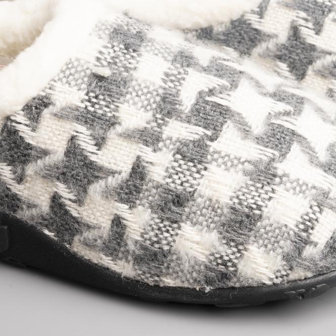 b6b060209d8f6 Homeys MARTHA Ladies Full Slippers Grey/Cream Nordic