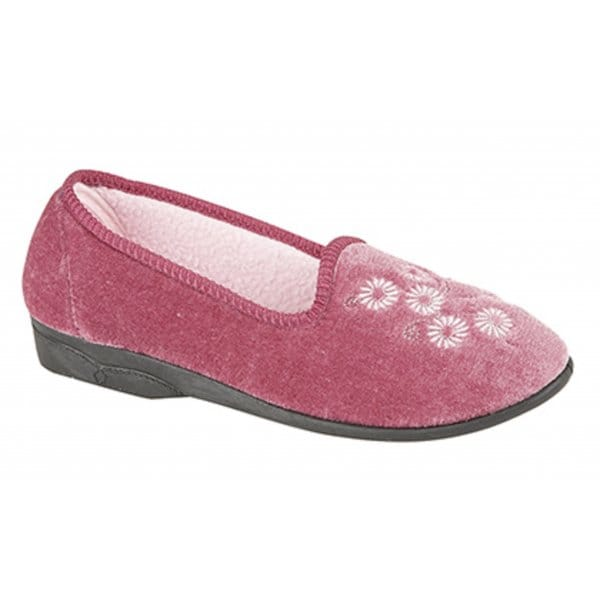 Zedzzz Cathy Ladies Full Floral Slipper Heather House Of