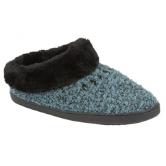CHLOE Ladies Full Slippers Teal Green