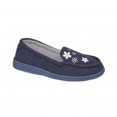 KAITLYN Ladies Full Slippers Navy